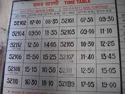 Indian Railways time-table